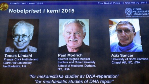 2015 Nobel Prize in Chemistry winners