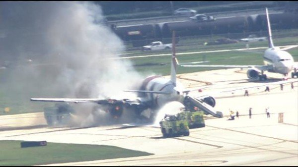 Dynamic Airways plane on fire Fort Lauderdale Hollywood Airport