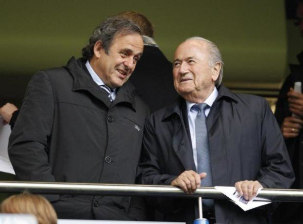 Michel Platini and Sepp Blatter FIFA corruption scandal