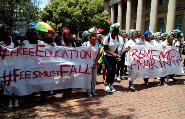 South Africa tuition fees protests