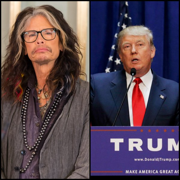 Steven Tyler and Donald Trump campaign