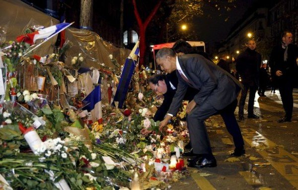 Barack Obama Bataclan memorial