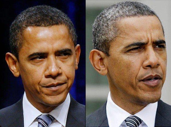 Barack Obama hair dye