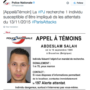 Paris Attacks Suspects List