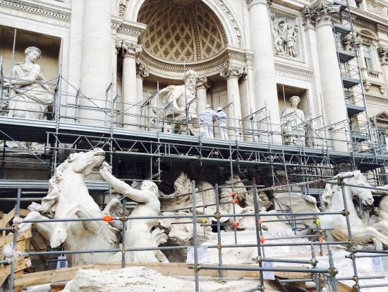 Trevi Fountain renovation