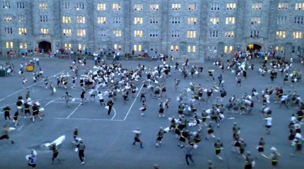 West Point pillow fight