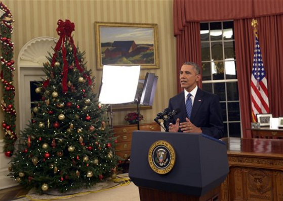 Barack Obama Oval Office address December 2015