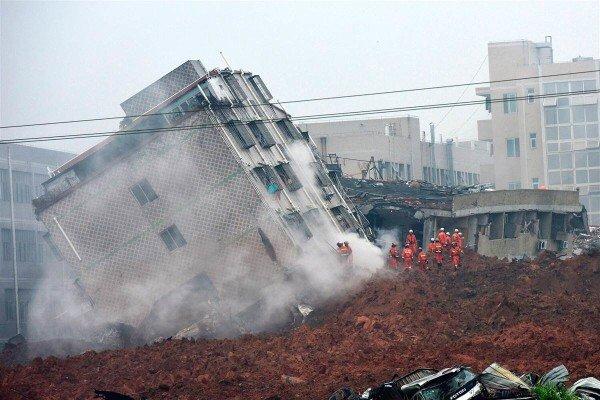 China landslide Shenzhen