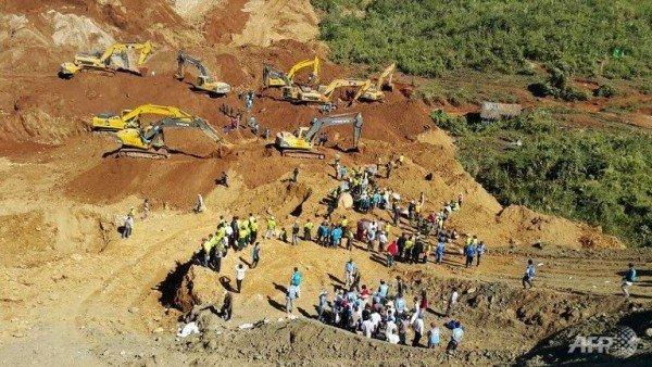 Myanmar landslide jade mine 2015