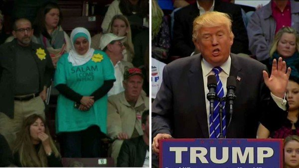 Donald Trump and Rose Hamid