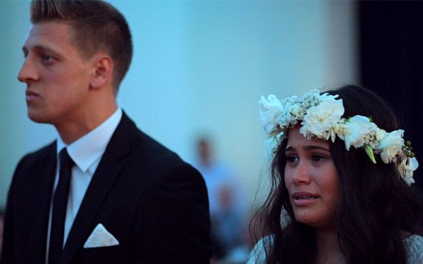 New Zealand bride wedding haka
