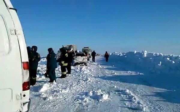 Russia blizzard Orenburg