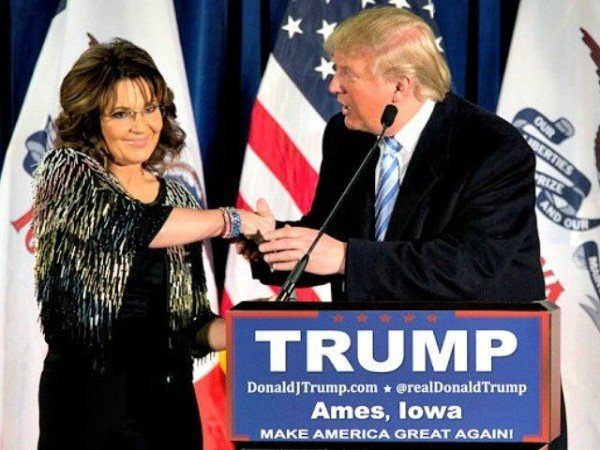Sarah Palin backs Donald Trump