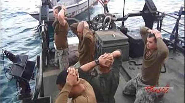 US Navy sailors held in Iran