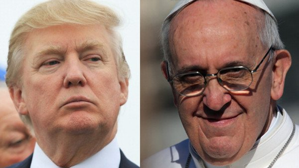 Donald Trump and Pope Francis row