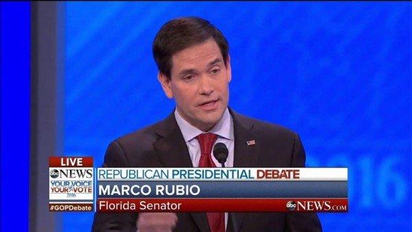 Marco Rubio GOP debate New Hampshire