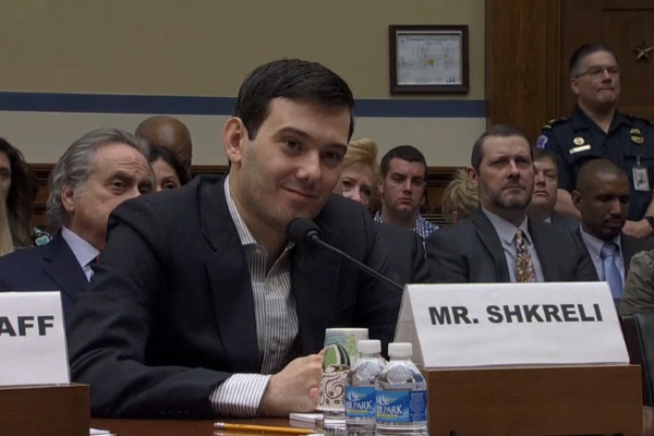 Martin Shkreli fifth amendment congressional hearing
