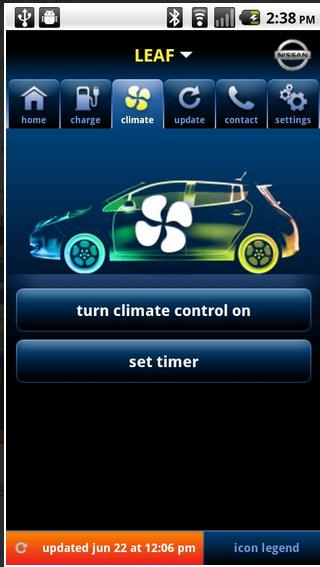 Nissan Leaf app suspension