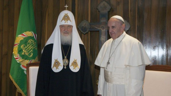 Patriarch Kirill and Pope Francis in Havana
