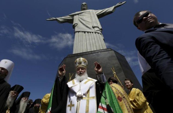 Patriarch Kirill at Christ the Redeemer