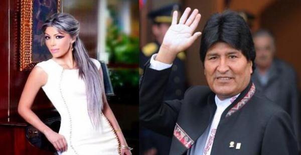 Evo Morales and Gabriela Zapata