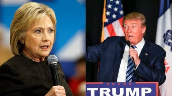 Hillary Clinton and Donald Trump Super Tuesday