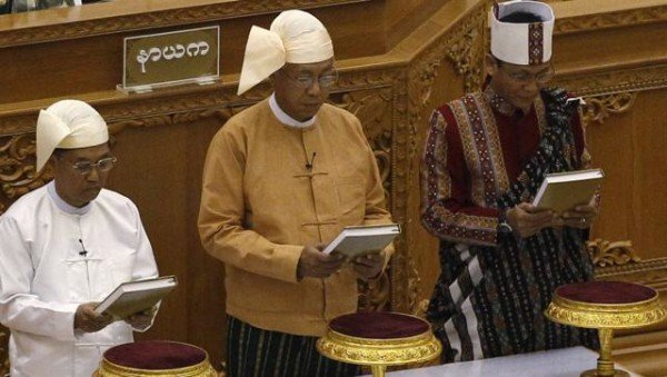 Htin Kyaw sworn in as Myanmar president