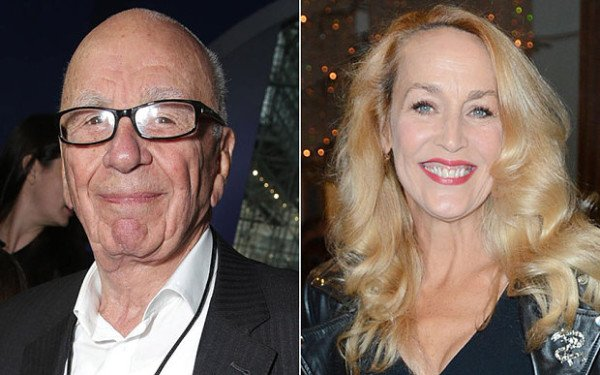 Rupert Murdoch marries Jerry Hall