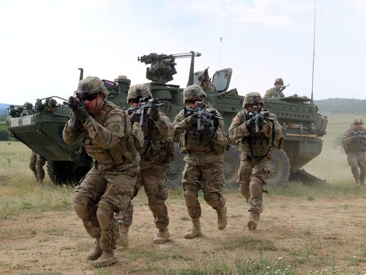 US troops in Eastern Europe