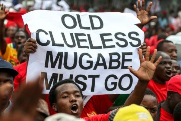 Anti Mugabe protest Zimbabwe