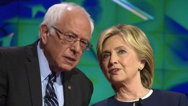 Bernie Sanders and Hillary Clinton row
