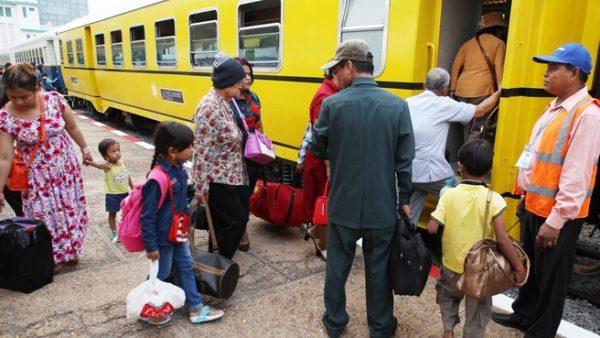 Cambodia train service restarted 2016