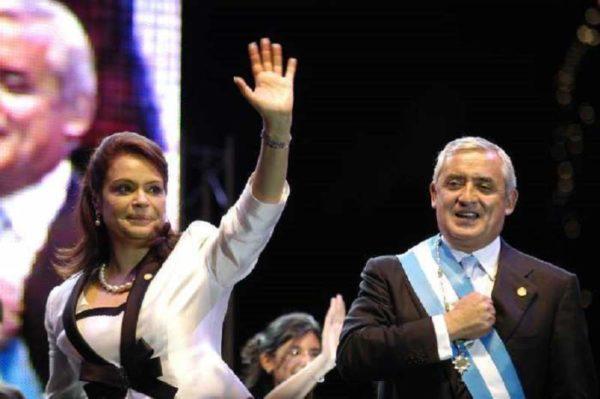 Otto Perez Molina and Roxana Baldetti