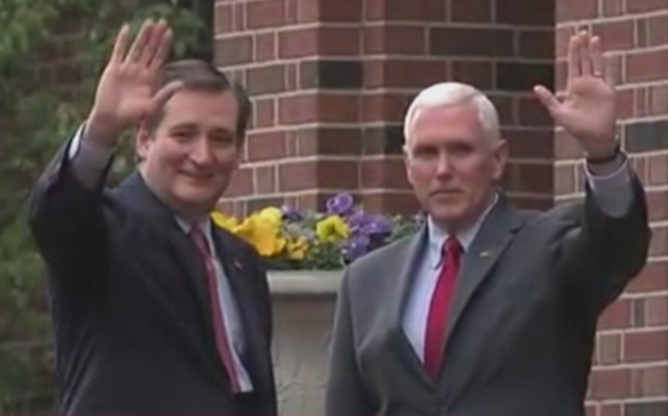 Ted Cruz endorsed by Mike Pence