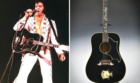 Elvis Presley guitar auction
