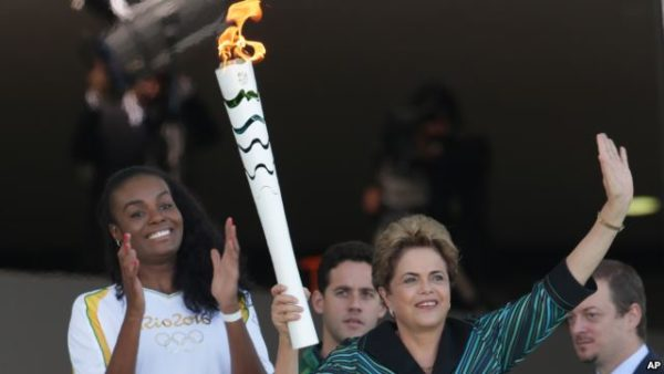 Olympic torch Brazil 2016