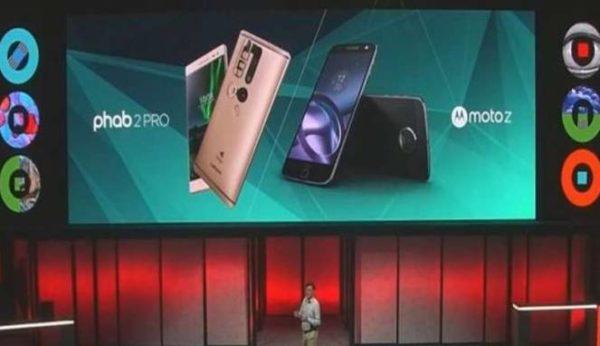 Lenovo unveils phab2Pro and moto Z