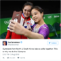 Rio 2016: South Korean and North Korean Gymnasts Takes Selfies Together